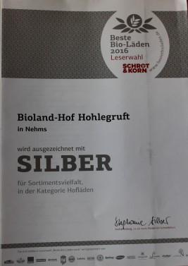 Auszeichnung 2016 Hof Hohlegruft