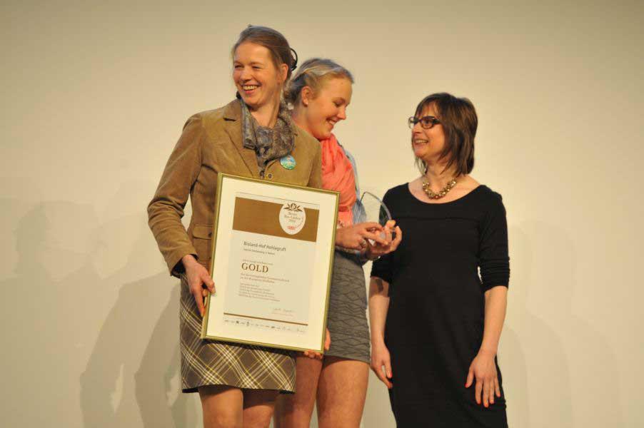 Auszeichnung Hof Hohlegruft